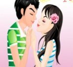 Kissing Couple Dressup