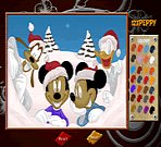 Mickey Family Online Coloring